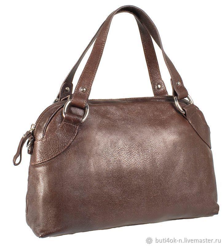 529c336eb Vintage Handbags & Purses. Livemaster - handmade. Buy Bag genuine leather  brown. Italy ...