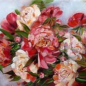 Картины и панно handmade. Livemaster - original item Peonies. Large oil painting. Handmade.