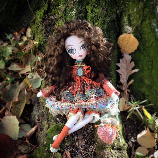 Коллекционные куклы ручной работы. Ярмарка Мастеров - ручная работа. Купить Авторская интерьерная текстильная кукла. Handmade.
