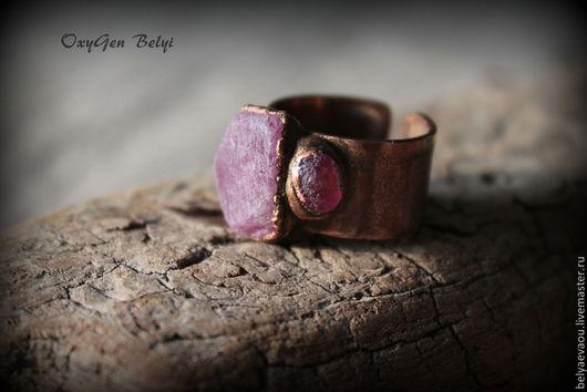"""Кольца ручной работы. Ярмарка Мастеров - ручная работа. Купить Кольцо """"Fiery Passion"""". Handmade. Ярко-красный, рубин натуральный"""
