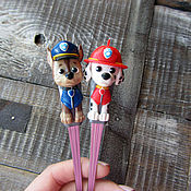 Посуда handmade. Livemaster - original item Teaspoons Puppy partol. Handmade.