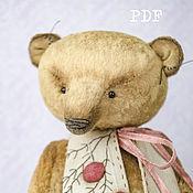 Материалы для творчества handmade. Livemaster - original item OOAK Artists Teddy Bear pattern, teddy bear pattern, pdf pattern, wais. Handmade.