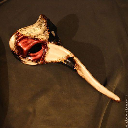 Интерьерные  маски ручной работы. Ярмарка Мастеров - ручная работа. Купить Маска венецианская Капитано Бьянко. Handmade. Венецианская маска