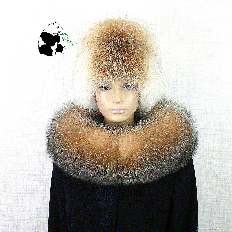Collar convertible Fox fur 'Crystal' No. №20, Collars, Ekaterinburg,  Фото №1