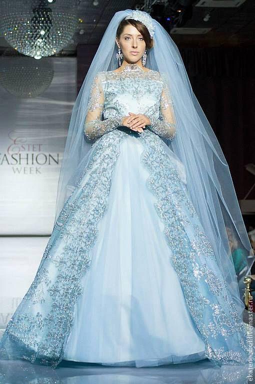 Свадебное платье Небесно голубое, Платья свадебные, Москва,  Фото №1