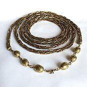 Украшения handmade. Livemaster - original item Lariat beaded dark Golden bronze. Handmade.