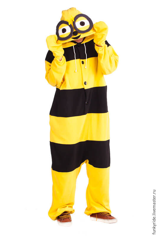 Карнавальные костюмы ручной работы. Ярмарка Мастеров - ручная работа. Купить Костюм кигуруми Пчелка FUNKY BEE KIGU. Handmade.