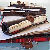 """Открытки ручной работы. Ярмарка Мастеров - ручная работа SOULCARD """"SCOTLAND"""" - Новогодняя открытка-свиток. Handmade."""