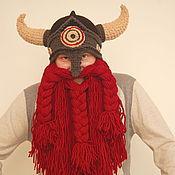 Аксессуары ручной работы. Ярмарка Мастеров - ручная работа шапка шлем викинга. Handmade.