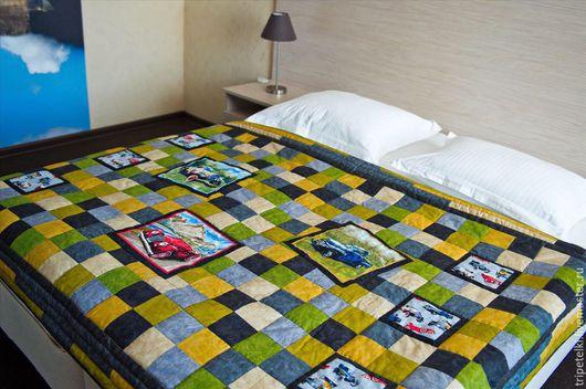 """Текстиль, ковры ручной работы. Ярмарка Мастеров - ручная работа. Купить Лоскутное одеяло """"Любимому мужчине""""(2). Handmade. Разноцветный, handmade"""