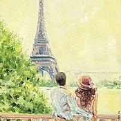 Картины и панно handmade. Livemaster - original item Oil painting on canvas. Love in Paris.. Handmade.