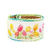 Украшения handmade. Livemaster - original item Bracelet nettle Tulips. Handmade.