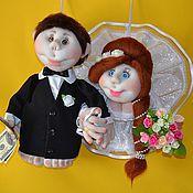 """Куклы и игрушки ручной работы. Ярмарка Мастеров - ручная работа Свадебные куклы попик """"куклы на удачу"""". Скульптурный текстиль. Handmade."""