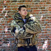 Шубы ручной работы. Ярмарка Мастеров - ручная работа Мужская куртка из волка. Handmade.
