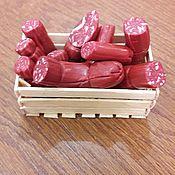 Кукольная еда ручной работы. Ярмарка Мастеров - ручная работа Миниатюра  колбаса. Handmade.