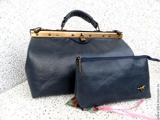 Женские сумки ручной работы. Ярмарка Мастеров - ручная работа. Купить САКВОЯЖ ПРЕВОСХОДСТВО  35 см, кожаный снаружи и замшевый внутри. Handmade.