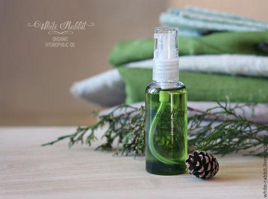 """Для снятия макияжа ручной работы. Ярмарка Мастеров - ручная работа. Купить """"Хвоя"""" гидрофильное масло. Handmade. Зеленый, хвоя"""