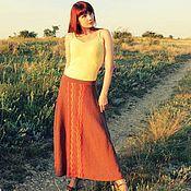 """Одежда ручной работы. Ярмарка Мастеров - ручная работа Вязаная летняя юбка """"Южный берег"""". Handmade."""