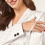 Одежда handmade. Livemaster - original item Costumes: Women`s white striped suit with wide trousers. Handmade.