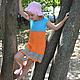 """Одежда для девочек, ручной работы. Заказать Платье """" Оранжевое лето"""". Творческая мастерская 'OL!GA'. Ярмарка Мастеров. Платье для девочек"""