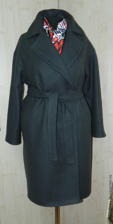 Верхняя одежда ручной работы. Ярмарка Мастеров - ручная работа. Купить пальто-оверсайз 6. Handmade. Темно-серый