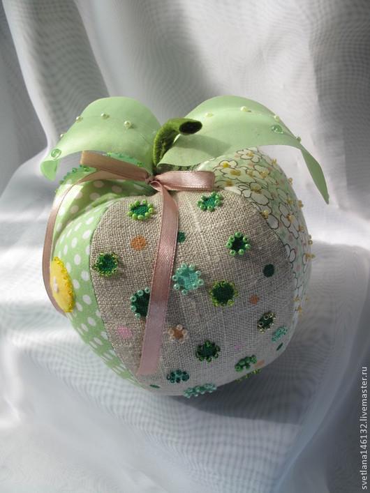 Куклы Тильды ручной работы. Ярмарка Мастеров - ручная работа. Купить Яблоко для Адама. Handmade. Зеленый, листочки, фрукты, лён