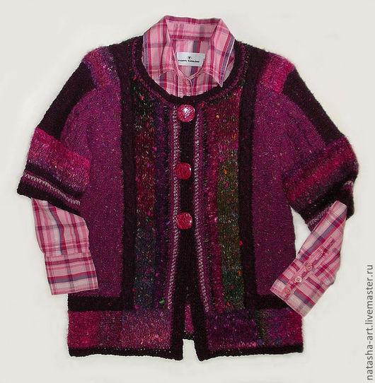 Одежда для девочек, ручной работы. Ярмарка Мастеров - ручная работа. Купить Noro и твид. Handmade. Бордовый, твид, букле