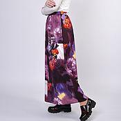 Skirts handmade. Livemaster - original item Long skirt Evening Garden purple flowers. Handmade.