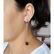 Украшения handmade. Livemaster - original item Earrings on chains. model №6.. Handmade.