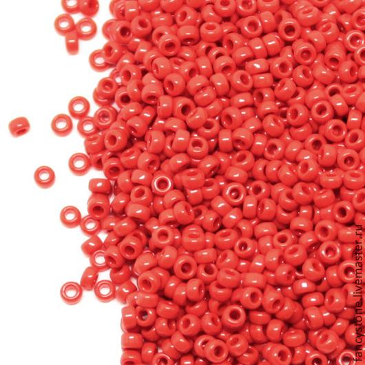 Для украшений ручной работы. Ярмарка Мастеров - ручная работа. Купить Бисер Миюки 15/0 Opaque Red 408 MIYUKI round круглый 5гр.. Handmade.