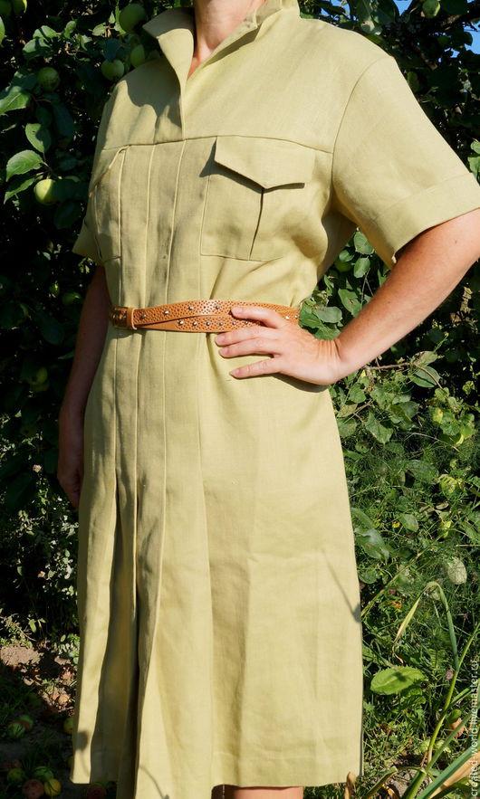 Одежда. Ярмарка Мастеров - ручная работа. Купить Платье в стиле милитари. СССР, 48 размер. Handmade. Оливковый, платье летнее
