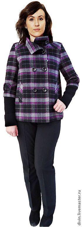 Верхняя одежда ручной работы. Ярмарка Мастеров - ручная работа. Купить Шерстяное пальто женское Enrica viola cellulare. Handmade.