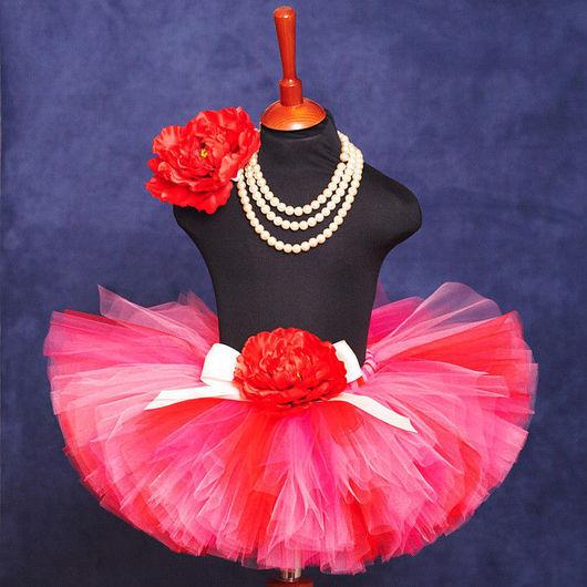 """Юбки ручной работы. Ярмарка Мастеров - ручная работа. Купить """"Сладкий поцелуй"""" комплект юбка-пачка и повязка с цветком. Handmade."""