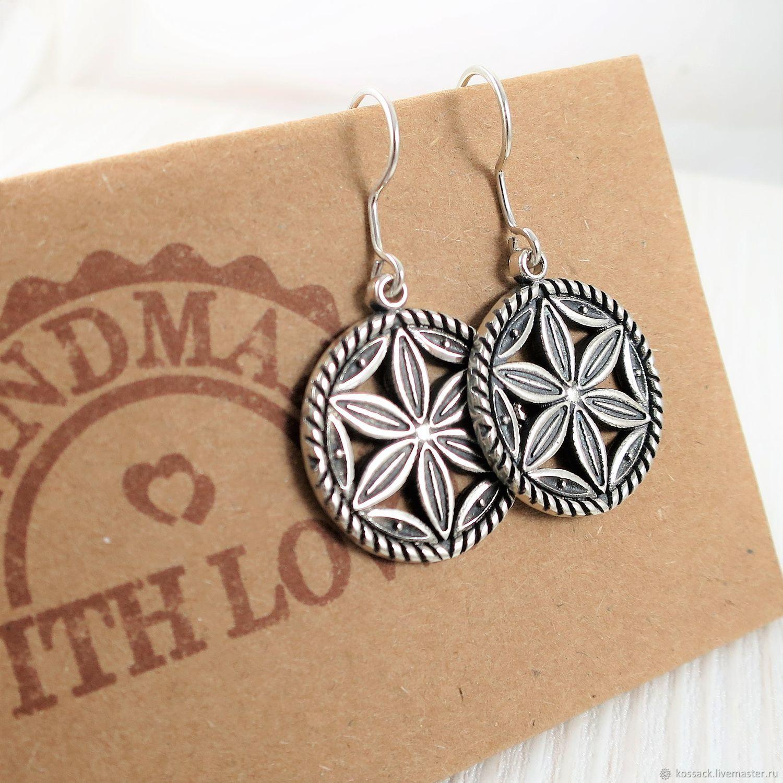 Perun's wheel earrings for woman amulet guard, Earrings, Zaporozhye,  Фото №1