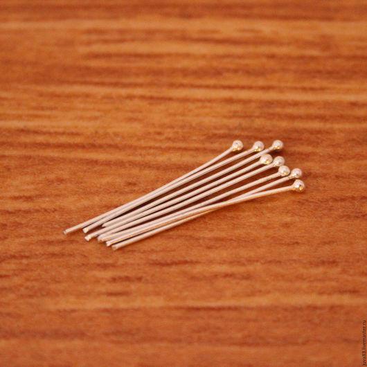 Для украшений ручной работы. Ярмарка Мастеров - ручная работа. Купить Пины с шариком 2 мм, серебро 925. Handmade.