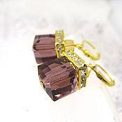 Украшения handmade. Livemaster - original item Scarlet crystal earrings. Handmade.