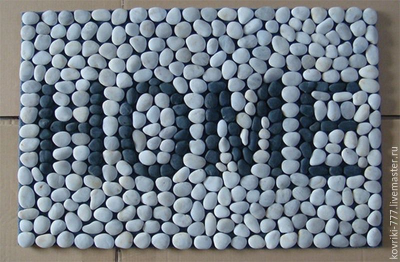 Stone Mat with the inscription. Size 45*70 cm. The price of 5500 rubles. You can make any label according to your desire.
