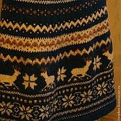 Одежда ручной работы. Ярмарка Мастеров - ручная работа Юбка Синий иней-талисман зимы 2014 года. Handmade.