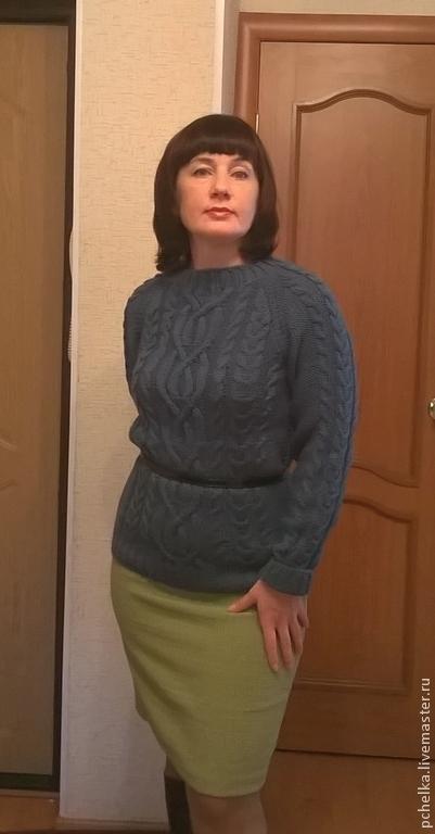 """Кофты и свитера ручной работы. Ярмарка Мастеров - ручная работа. Купить Джемпер """"Бриз"""". Handmade. Морская волна, шерсть 100%"""
