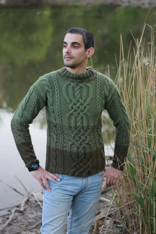 115fd2ebf95 For Men handmade. Livemaster - handmade. Buy Men s sweater  The olive tree   ...