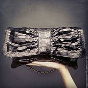 Сумки и аксессуары handmade. Livemaster - original item Clutch bag of genuine Python leather chain. Handmade.