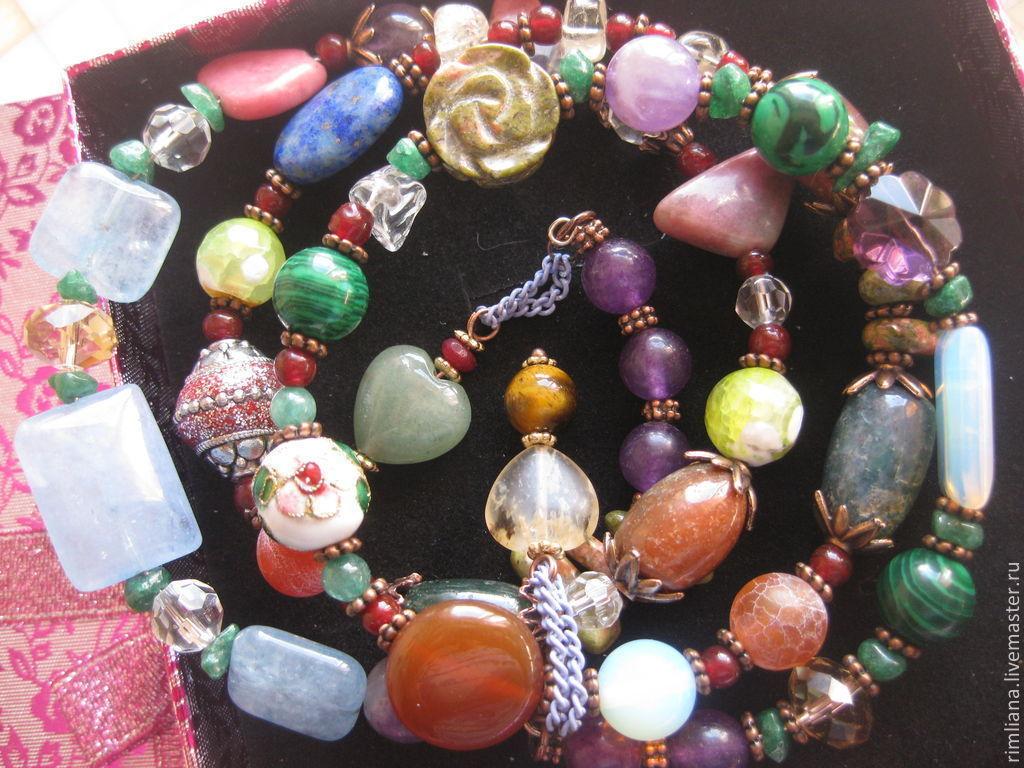 Bracelets Handmade Livemaster 010 Libra Charm Bracelet 4 Turns Of