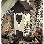 """Для дома и интерьера ручной работы. Ярмарка Мастеров - ручная работа чайный домик """"Шоколадные реки"""". Handmade."""