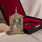 "Картины и панно handmade. Livemaster - original item Icon ""Mother-of-God of Kazan"" (large). Handmade."