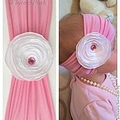 Работы для детей, ручной работы. Ярмарка Мастеров - ручная работа Повязка для девочки White&Pink. Handmade.