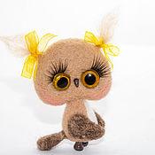 Куклы и игрушки ручной работы. Ярмарка Мастеров - ручная работа Совушка мини. Handmade.