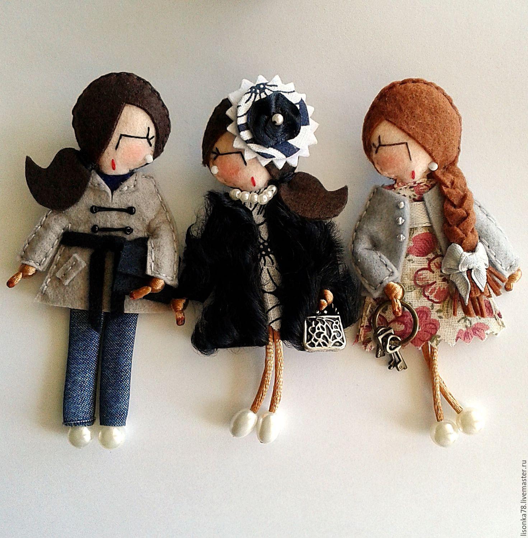 Игра в куколки шьём мягкие брошки из фетра Ярмарка 764