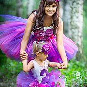 Работы для детей, ручной работы. Ярмарка Мастеров - ручная работа Пышные юбочки-пачки, боди, футболочки, повязки с цветами. Handmade.