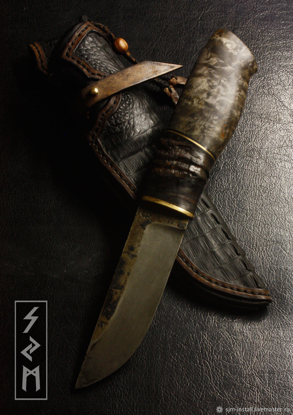 """Подарки для мужчин, ручной работы. Ярмарка Мастеров - ручная работа. Купить Авторский нож ручной работы """"Булат 3"""". Handmade."""