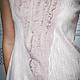 """Платья ручной работы. Валяное длинное платье """"Сappuccino"""". Лена Баймут (Baymut). Ярмарка Мастеров. Модное платье, кремовый, невеста"""